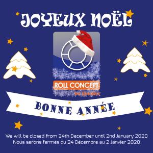 Roll Concept sera fermé pour les fêtes de fin d'année